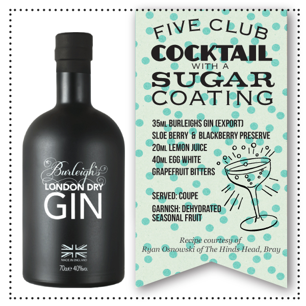 Burleighs Gin Sugar Group + FIVE Cocktail